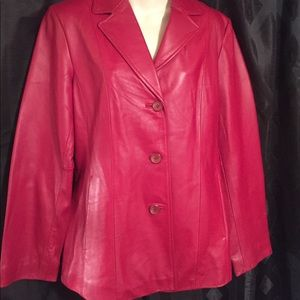 Women's Sienna maroon 100% Leather Jacket Size 10